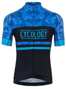 Cyklodres pánsky Geometric Blue od Cycology