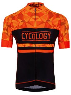 Cyklodres pánsky Geometric orange od Cycology