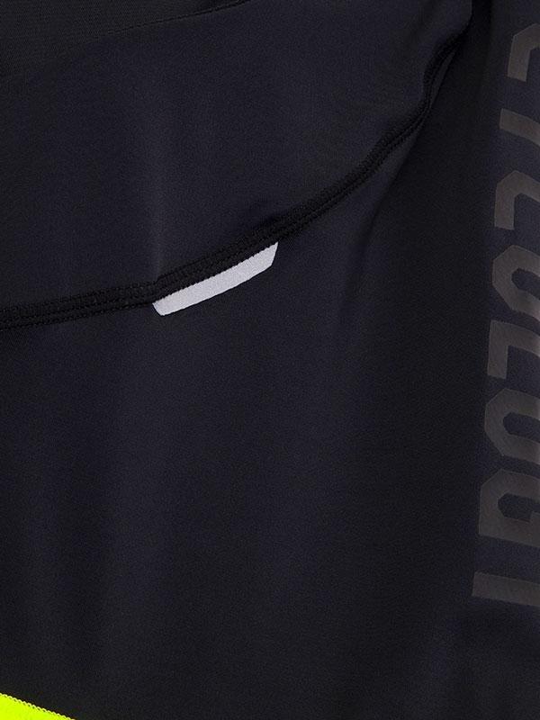 Cyklokraťasy pánske biby s trakmi a logom Cycology (black/lime)