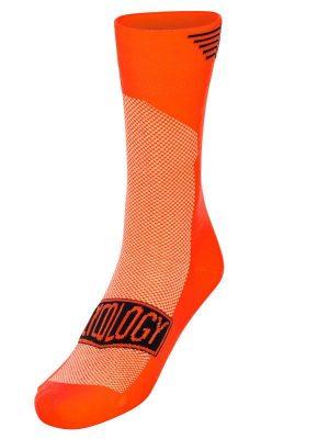 Cyklistické ponožky oranžové od Cycology