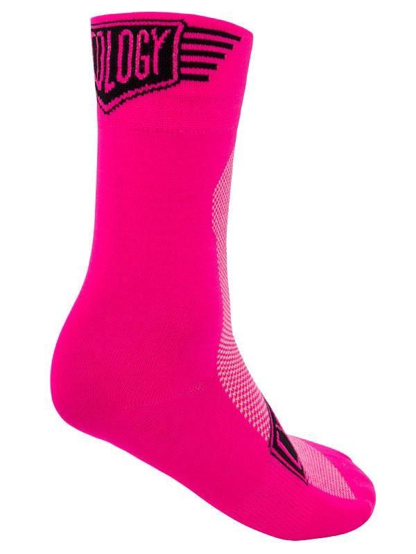 Cyklistické ponožky ružové od Cycology