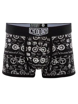 Čierne spodné prádlo boxerky Bike Maths
